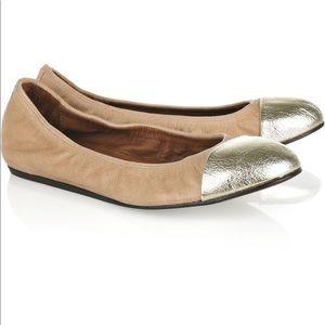 Authentic Lanvin 'Toe Cap' Leather Ballet Flats